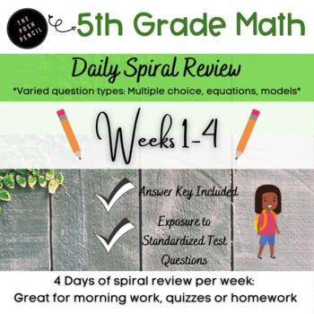 Daily Math Weeks 1-4: Daily Decimal and Word Problems