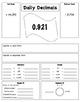 Daily Decimals (5.NBT.2, 5.NBT.3, 5.NBT.4, 5.NBT.7)