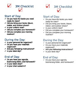 Daily Desk Checklist - Editable