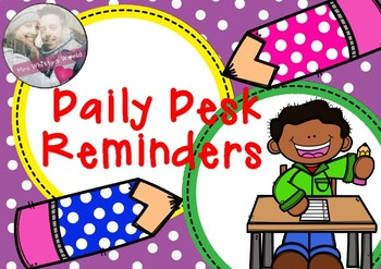 Daily Desk Reminders for Students