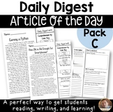 Daily Digest: Article of the Day for Grades 3-5- Pack C