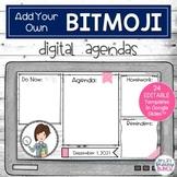 Daily Digital Agendas to use with Teacher Avatar | Editabl