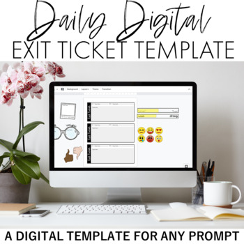 Daily Digital Exit Ticket Template By Doc Cop Teaching  Tpt