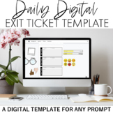 Daily Digital Exit Ticket Template