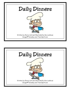 Daily Dinners Reproducible Guided Reading Book