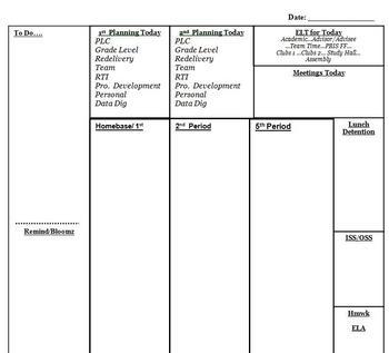 Daily Documentation Sheet