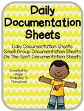 Daily Documentation Sheets