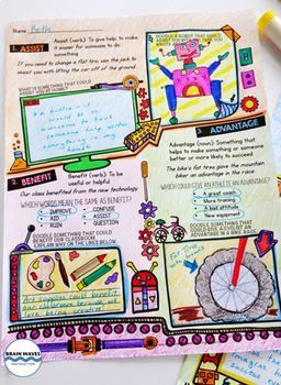 Daily Doodle Vocabulary - Vocabulary Doodles and Writing All Year Long!