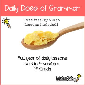 Daily Dose of Grammar 1st Grade Practice & Assessment Quarter 3 Bell Center
