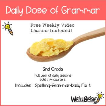 Daily Dose of Grammar 2nd Grade Practice & Assessment Quarter 1 Bell Center