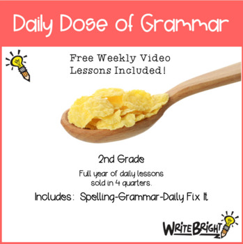 Daily Dose of Grammar 2nd Grade Practice & Assessment Quarter 2 Bell Center