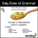 Daily Dose of Grammar 5th Grade Practice & Assessment Quar