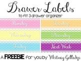 Daily Drawer Organizer Labels {FREEBIE}
