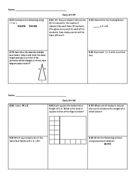Daily Drill - 3rd Grade Math (STAAR Review)