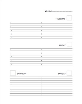 Daily Duties: Independent Check Sheets for Students