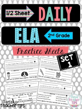 Daily ELA 1/2 sheets SET 1