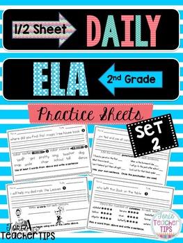 Daily ELA 1/2 sheets SET 2
