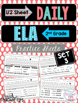 Daily ELA 1/2 sheets SET 3