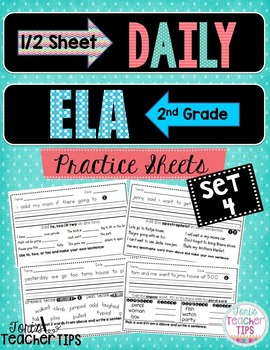 Daily ELA 1/2 sheets SET 4