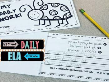 Daily ELA 1/2 sheets SET 5