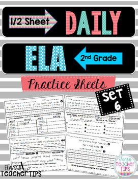 Daily ELA 1/2 sheets SET 6