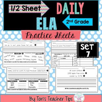 Daily ELA 1/2 sheets SET 7