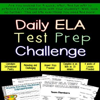 ... #TpTfireworks Daily ELA Challenge - Set 2