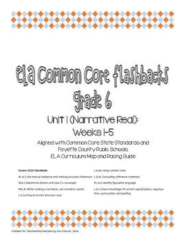 Daily ELA Common Core Flashbacks, Grade 6, Unit 1