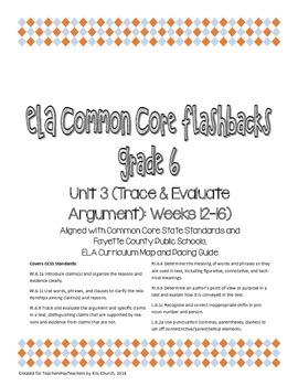 Daily ELA Common Core Flashbacks, Grade 6, Unit 3