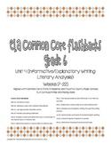 Daily ELA Common Core Flashbacks, Grade 6, Unit 4
