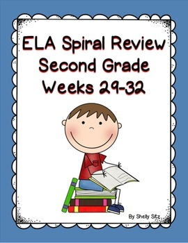 Daily ELA SPiral Review for Second Grade, Weeks 29-32