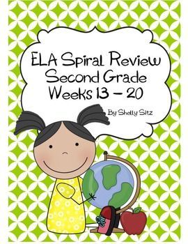 Daily ELA Spiral Review For Second Grade, Weeks 13-20