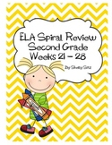 Daily ELA Spiral Review For Second Grade, Weeks 21-28
