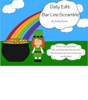 Daily Edit: Bar Line Scramble (St. Patrick's Day Theme)