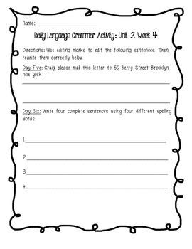 Daily Edit: Combining Sentences