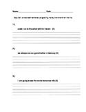 Daily Edit- sentence editting practice