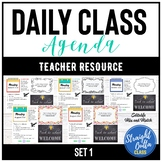 Daily Agenda Google Slides Template Set 1   Distance Learning