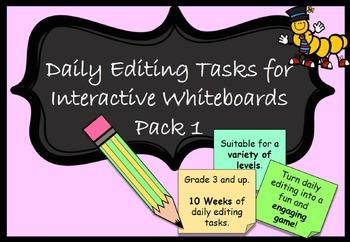 Daily Editing Interactive Whiteboard PowerPoint Australian