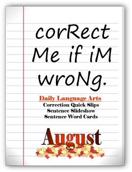 Daily Editing - Language Arts Pack-August Set