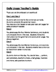 Daily Editing, Revising, and Mentor Sentences (AB)