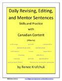 Daily Editing, Revising, and Mentor Sentences (AB)