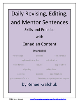 Daily Editing, Revising, and Mentor Sentences (MB)