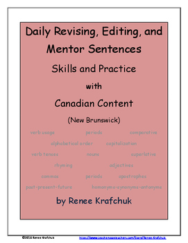 Daily Editing, Revising, and Mentor Sentences (NB)