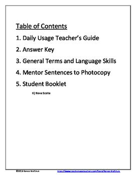 Daily Editing, Revising, and Mentor Sentences (NS)