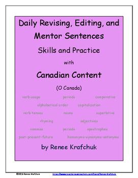 Daily Editing, Revising, and Mentor Sentences (O Canada)