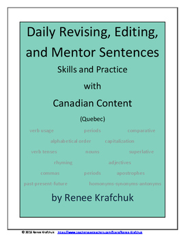 Daily Editing, Revising, and Mentor Sentences (QC)