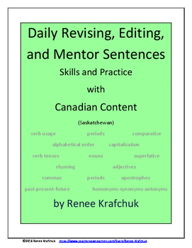 Daily Editing, Revising, and Mentor Sentences (SK)