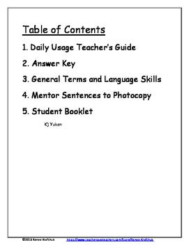 Daily Editing, Revising, and Mentor Sentences (YT)