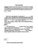 FSA ELA Test Daily Grammar Editing Tasks Practice Days 1-5