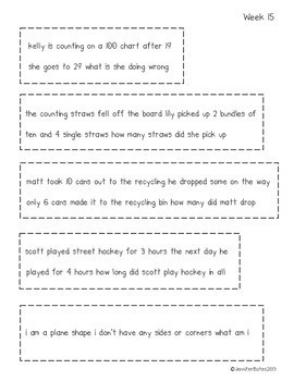 Daily Editing Word Problems {Common Core}